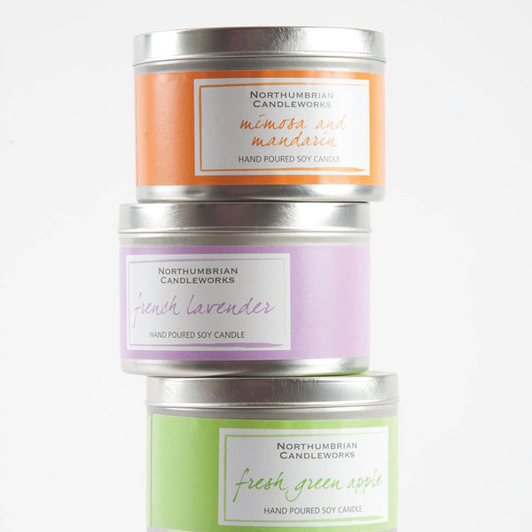 Soy Candles for Home - Soy Wax Candles in Tins by Northumbrian Candleworks