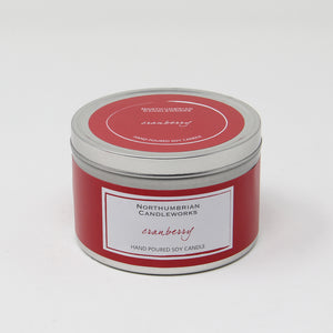 Northumbrian Candleworks - Cranberry - Candle in a Tin with Lid