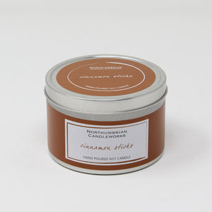 Northumbrian Candleworks - Cinnamon Sticks - Candle in a Tin with Lid