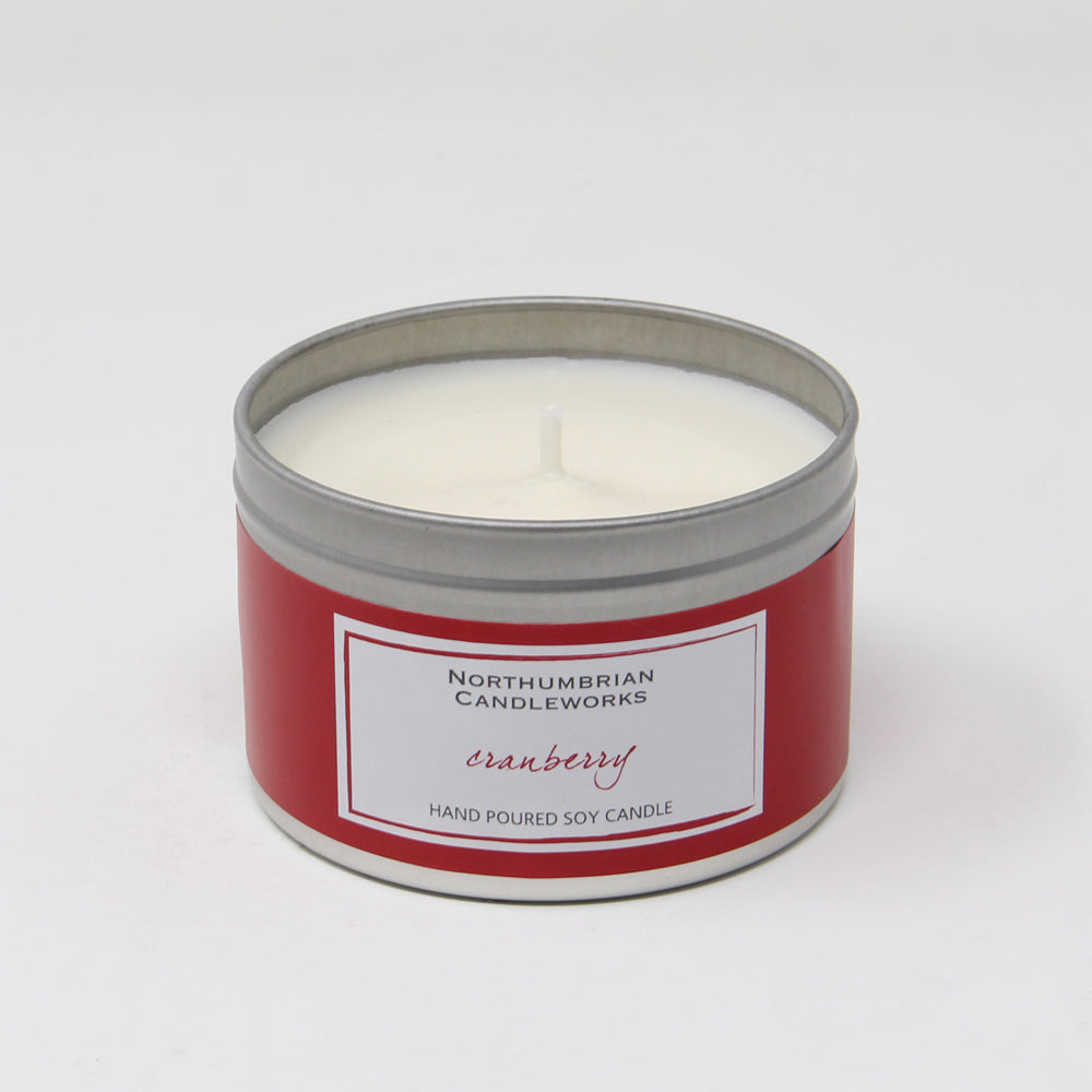Northumbrian Candleworks - Cranberry - Candle in a Tin