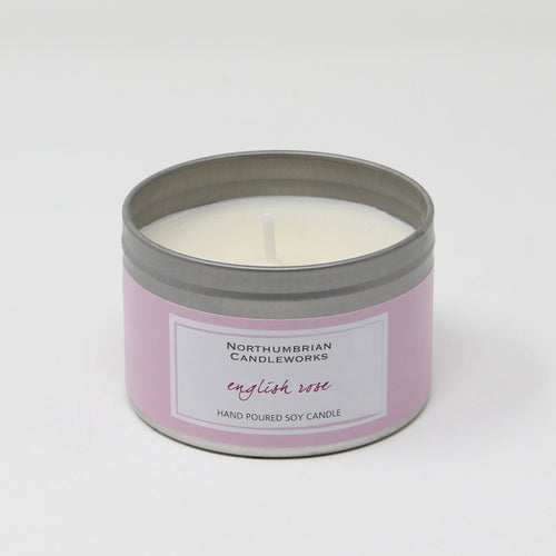 Northumbrian Candleworks - English Rose - Candle in a Tin