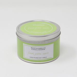 Northumbrian Candleworks - Fresh Green Apple - Candle in a Tin with Lid