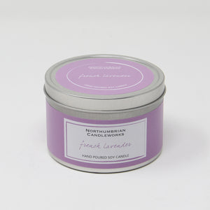 Northumbrian Candleworks - French Lavender - Candle in a Tin with Lid