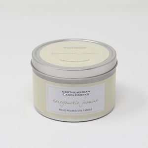 Northumbrian Candleworks - Honeysuckle Jasmine - Candle in a Tin with Lid