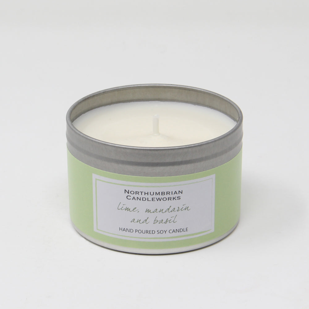 Northumbrian Candleworks - Lime Mandarin & Basil - Candle in a Tin