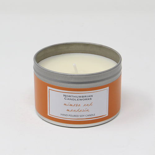 Northumbrian Candleworks - Mimosa & Mandarin - Candle in a Tin