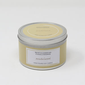 Northumbrian Candleworks - Sandalwood - Candle in a Tin with Lid