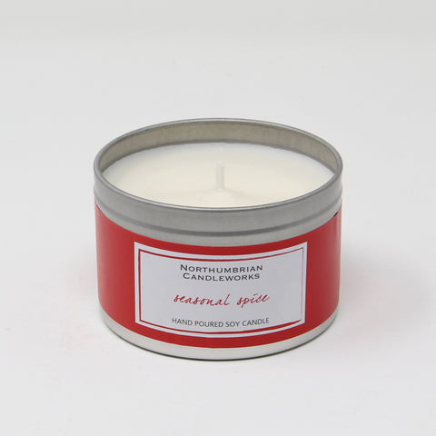 candle in a tin finished
