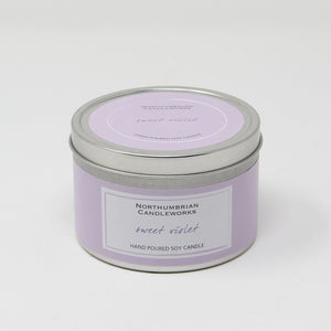 Northumbrian Candleworks - Sweet Violet - Candle in a Tin with Lid