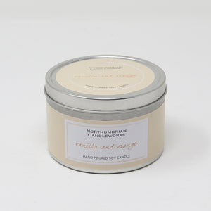 Northumbrian Candleworks - Vanilla & Orange - Candle in a Tin with Lid
