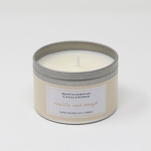 Northumbrian Candleworks - Vanilla & Orange - Candle in a Tin