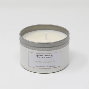 Northumbrian Candleworks - White Gardenia - Candle in a Tin