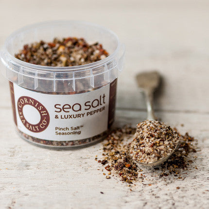 Cornish Sea Salt Flavoured - Sea Salt & Luxury Pepper - Pinch Pot