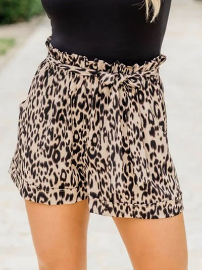 Summer Leopard Cotton-Blend Shorts