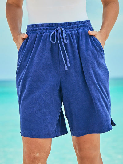 Holiday Loose Casual Solid Shorts