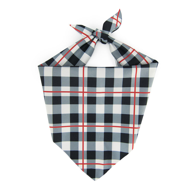 Black & White Plaid - Pet Bandanna