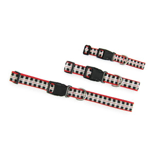 Black & White Plaid - Pet Collars