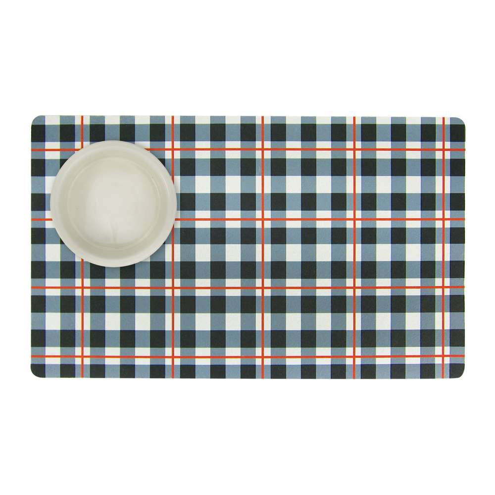 Black & White Plaid - Pet Mat