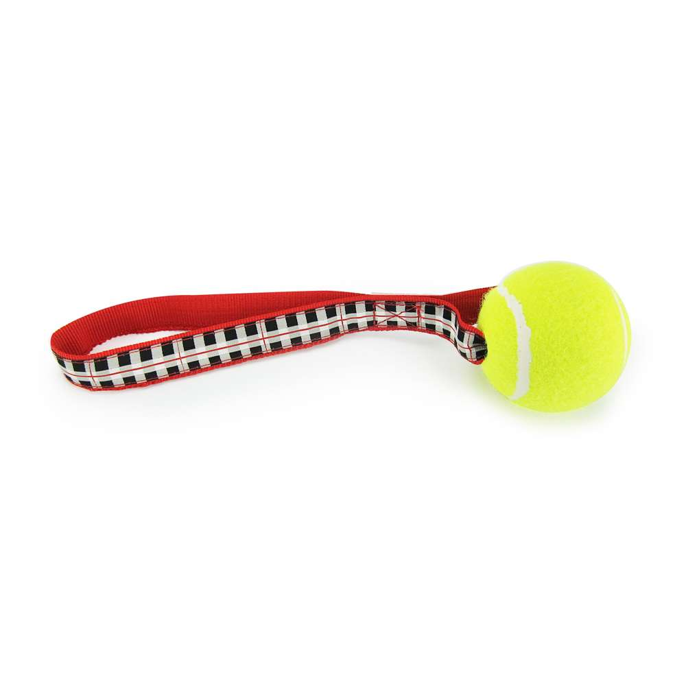 Black & White Plaid - Tennis Ball Toss Toy