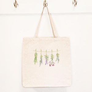 Herbs on a Line - Canvas Tote Bag