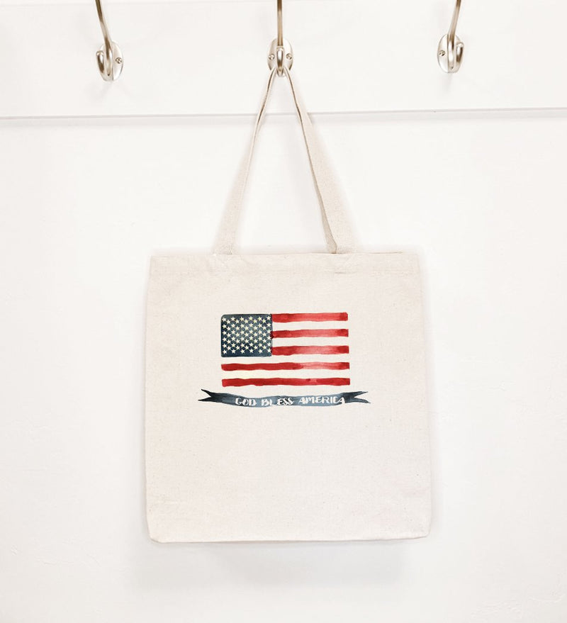 God Bless America Flag - Canvas Tote Bag