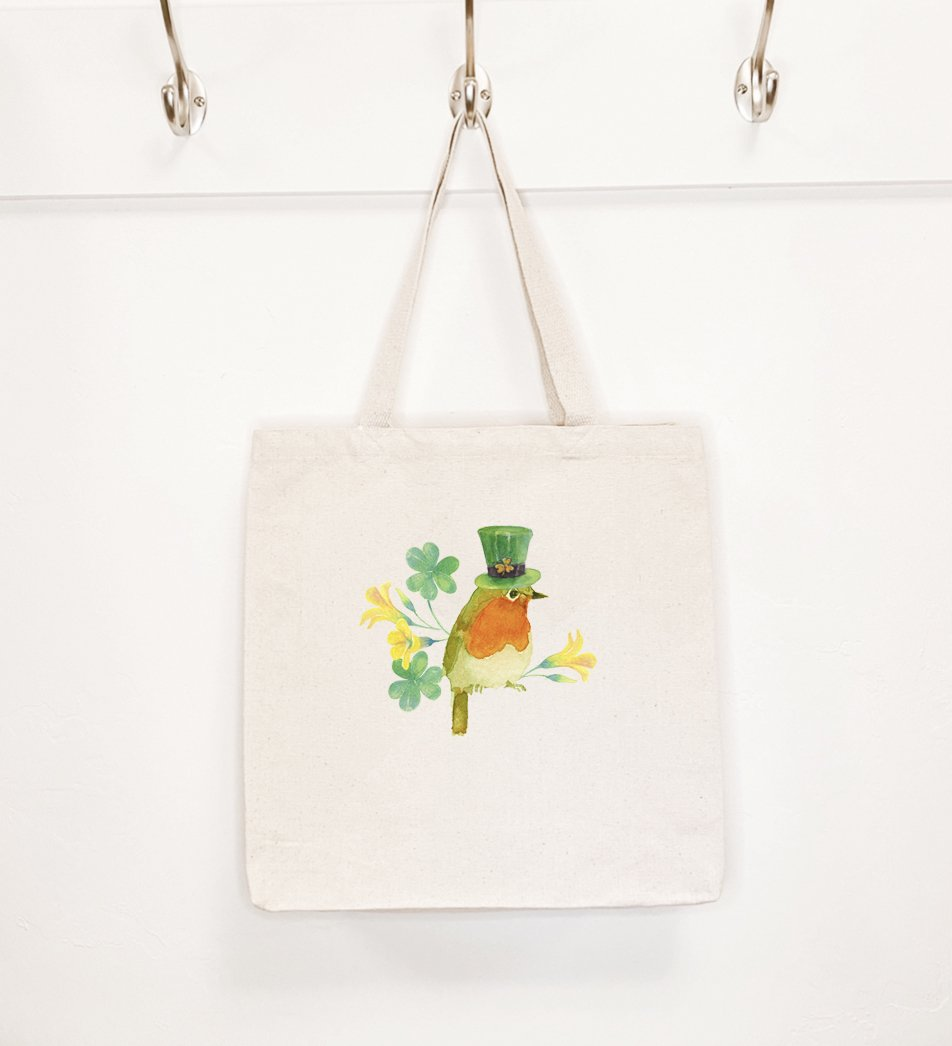 Leprechaun Bird - Canvas Tote Bag