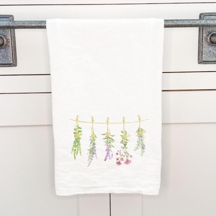 Herbs on a Line - Cotton Tea Towel
