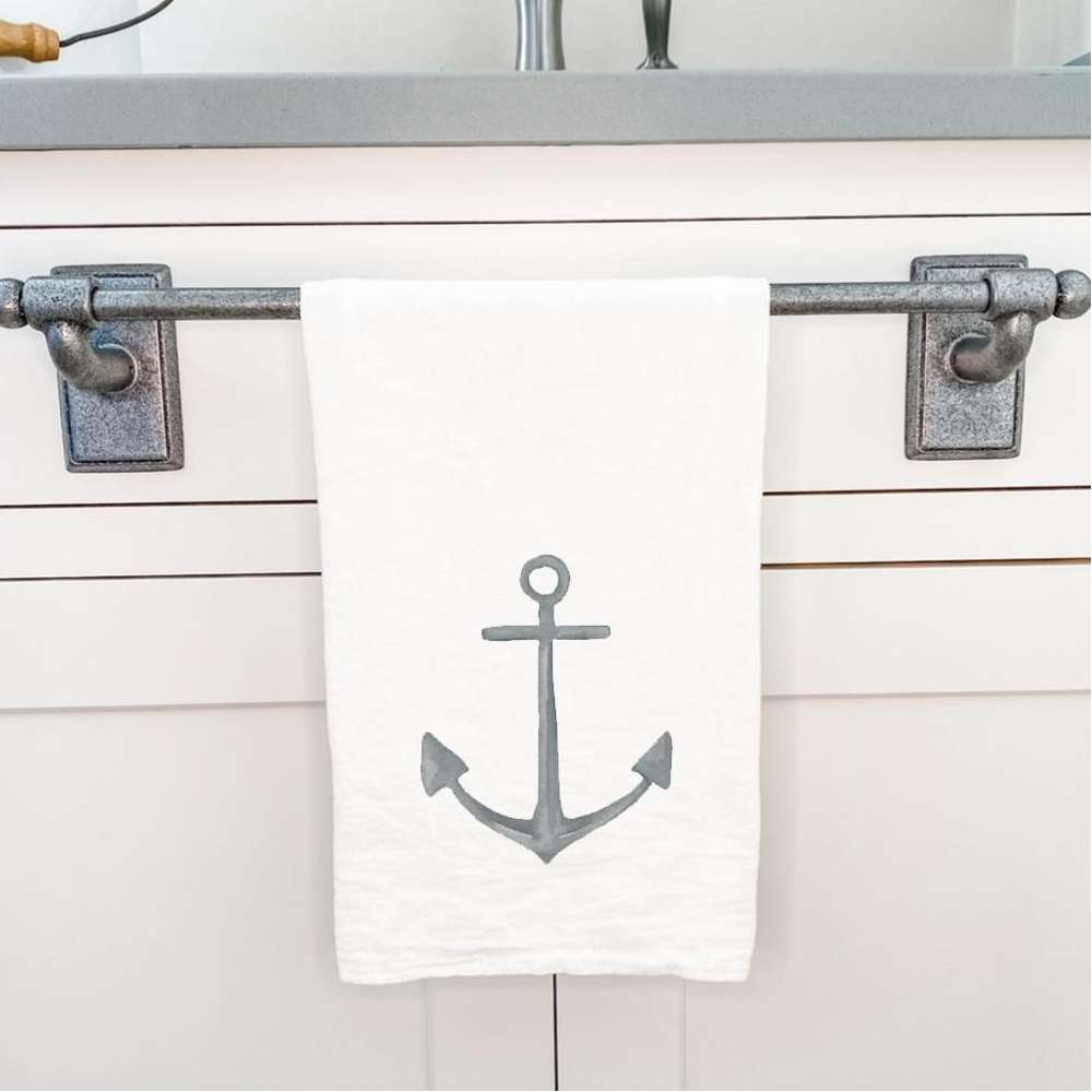 Watercolor Anchor - Cotton Tea Towel