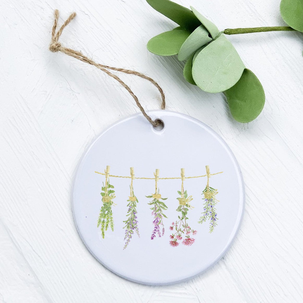 Herbs on a Line - Ornament