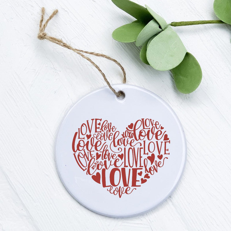 Heart Love Red - Ornament