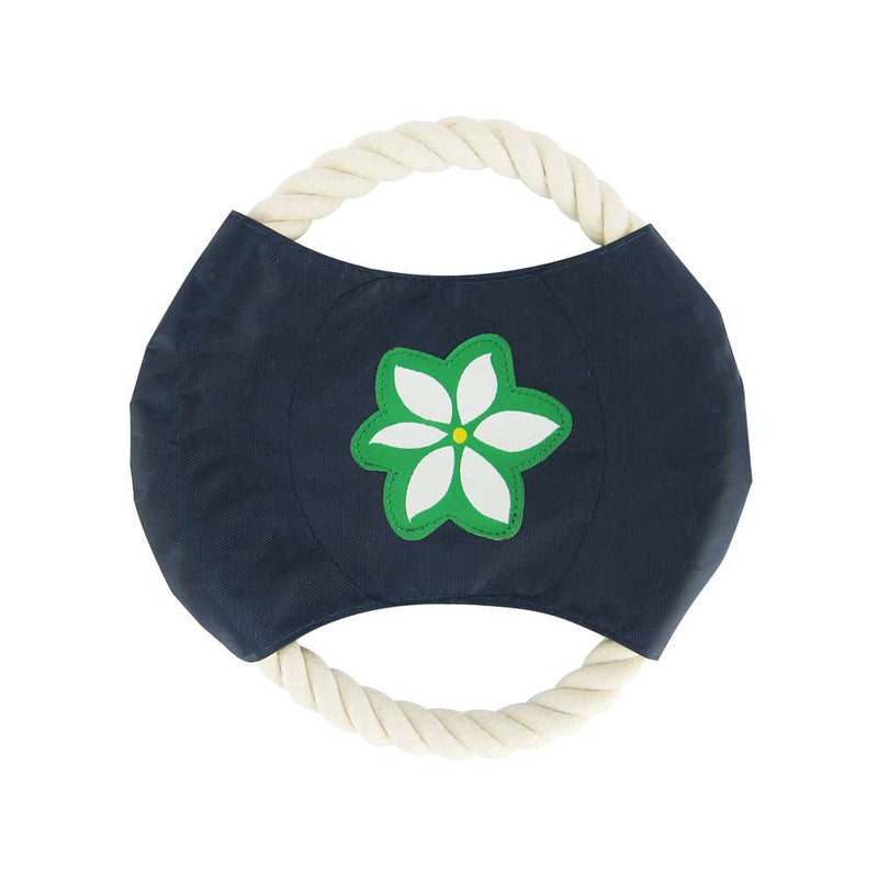 Blue Floral - Rope Disc Toy