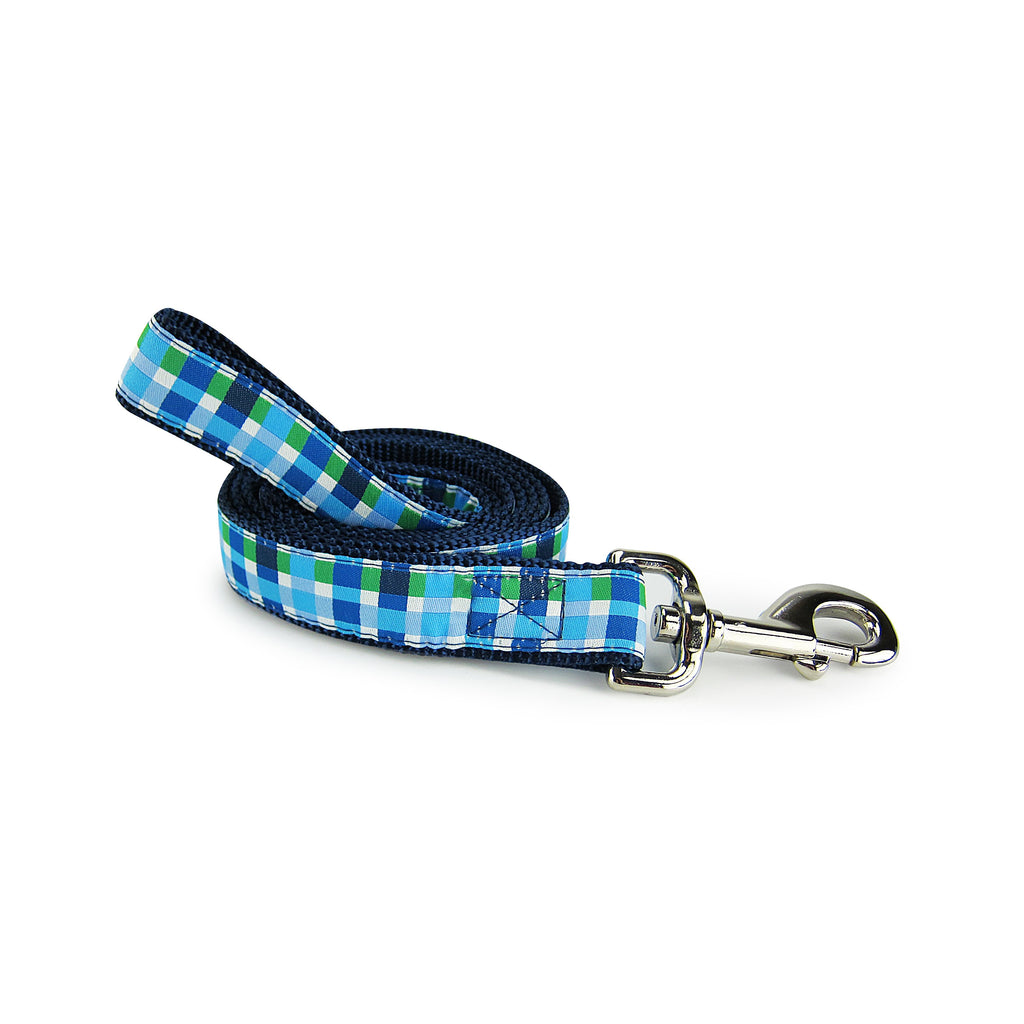 Blue Plaid - Pet Leashes