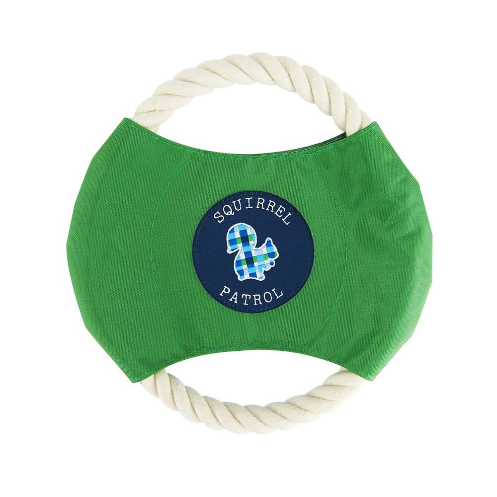 Blue Plaid - Rope Disc Toy