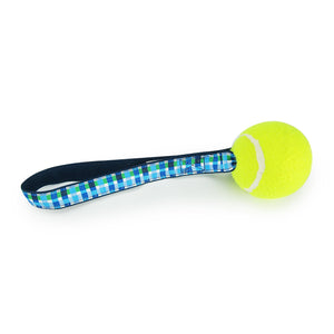Blue Plaid - Tennis Ball Toss Toy