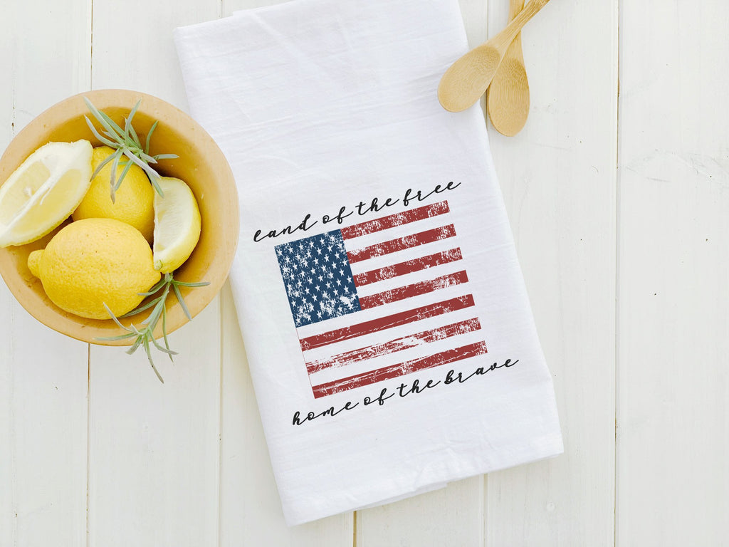 American Flag - Cotton Tea Towel