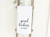 Spread Kindness Not Germs - Cotton Tea Towel