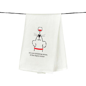 Not Drinking Alone - Tea Towel
