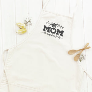 Mom the Heart of Family - Apron