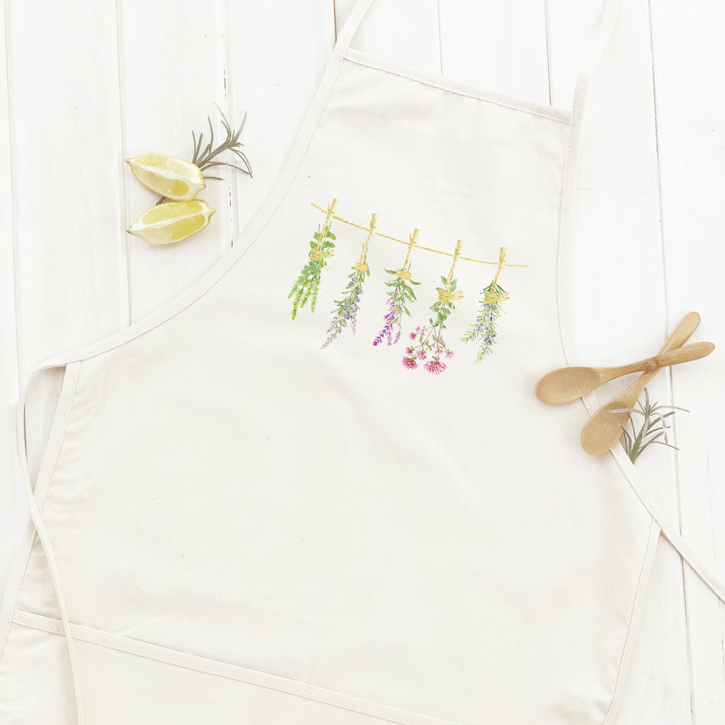 Herbs on a Line - Apron