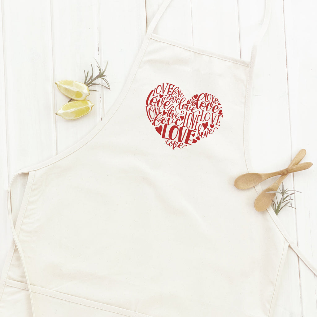Love Heart Red - Apron