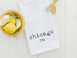 Customizable Area Code - Cotton Tea Towel