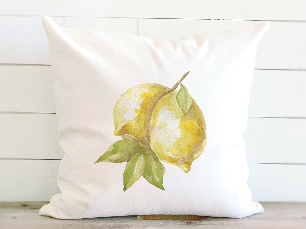 Lemons - Cotton Canvas Pillow