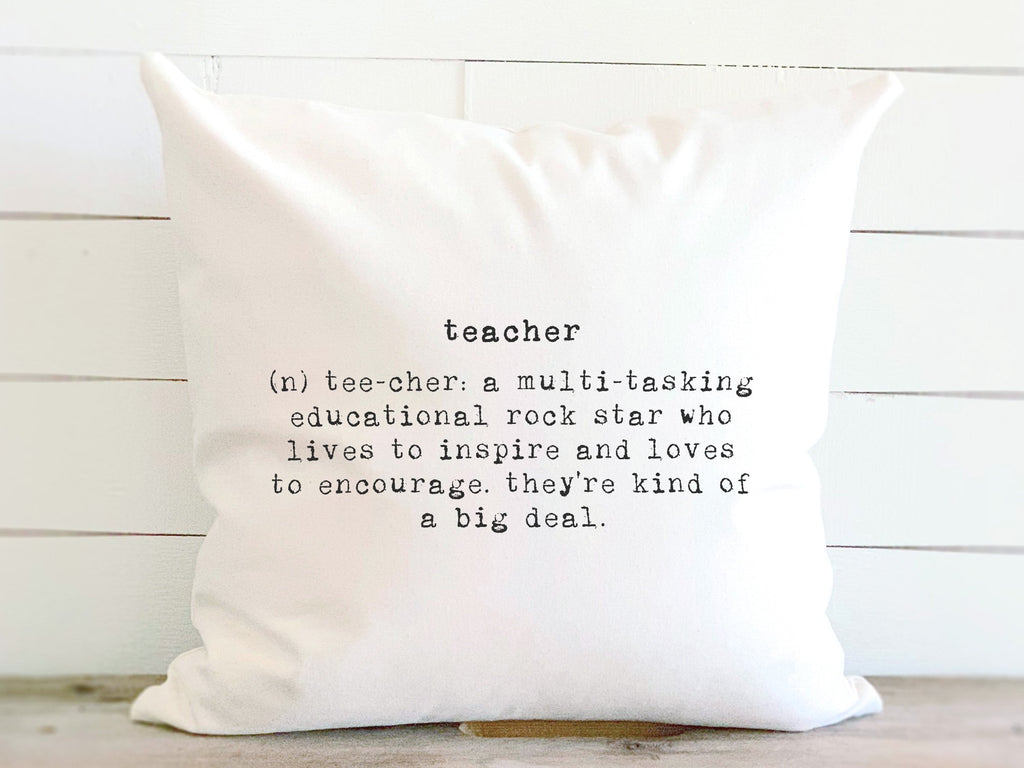 Teacher Definition - Cotton Canvas Pillow