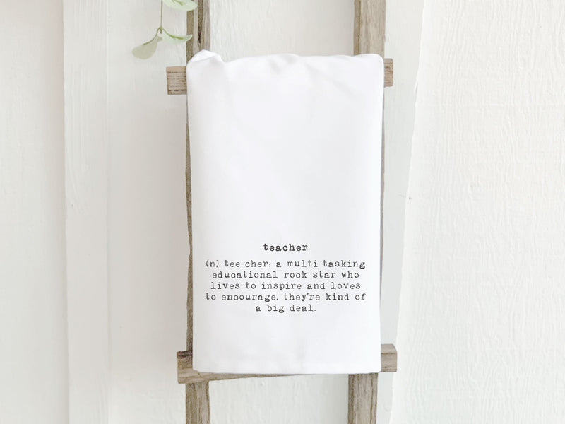 Teacher Definition - Cotton Tea Towel