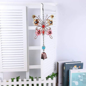 Butterfly with Flowers Wind Chimes - 2 styles - Treasure Knot