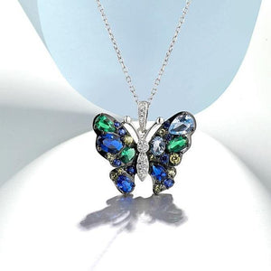 Exquisite Coloured Butterfly Pendant - Treasure Knot