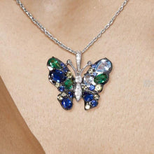 Load image into Gallery viewer, Exquisite Coloured Butterfly Pendant - Treasure Knot