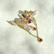 Load image into Gallery viewer, Lustrous Gold Bird Brooch - Treasure Knot
