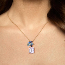 Load image into Gallery viewer, Treasure Knot Pendants Sparkling Blue & Pink Gem Pendant