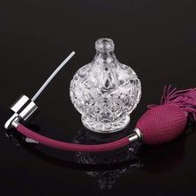 Load image into Gallery viewer, Treasure Knot Perfume Bottles Sparkling Crystal Perfume Bottle with Burgundy Spray Atomizer